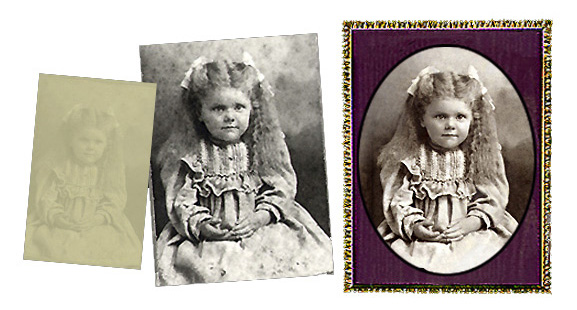 Ultraviolet Photography of Ila Gertrude Thomas 1901-by Kathryn Rutherford-Heirloom Art Studio