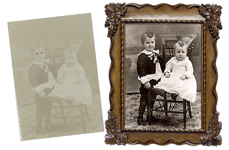 Ultraviolet Photography Photo Restoration-by Kathryn Rutherford-Heirloom Art Studio